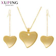 S-411 Xuping joyas al por prefeito de ouro 2 gram colar de ouro set + dubai projetos de jóias de ouro mulher conjunto