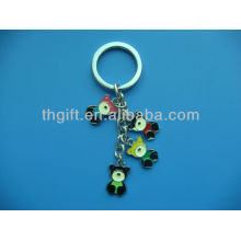 The Cute Bear design metal keychain/keyring