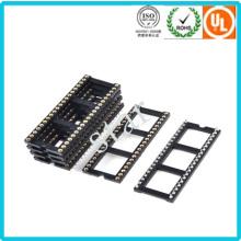 Fábrica personalizada 2,54 mm 40 pino duplo linha Pin cabeçalho IC soquete
