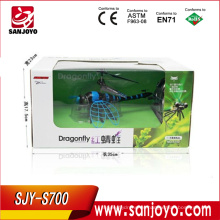 """rc titanic toys """"Dragonfly"""" rc toy 4.5ch w / batiendo alas y luz LED"""