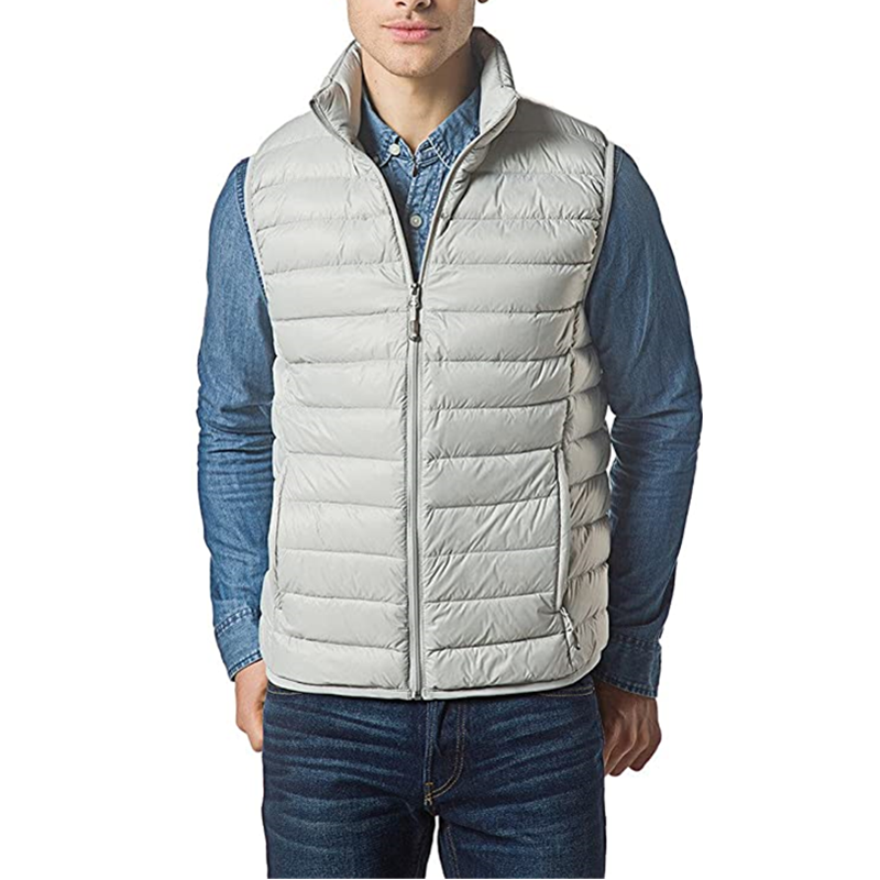Men Packable Lightweight Down Vest Outdoor Puffer Vest