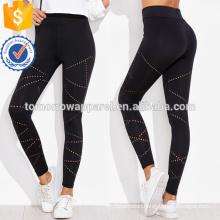 Black Eyelet Detail Leggings OEM/ODM Manufacture Wholesale Fashion Women Apparel (TA7024L)