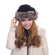 Fur chapéu quente para o inverno