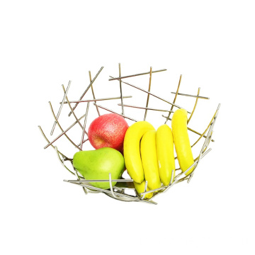 Creative Household Snack Fruit And Vegetable Storage Bowl Organizing Baskets Metal Wire Fruit Basket