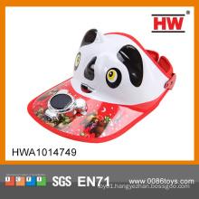 Hot Sale solar cooling fan cap panda solar cap fan