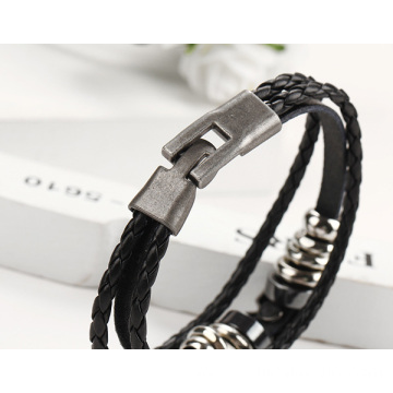 Wholesale Alloy Parts Genuine Leather Bracelet Handmade