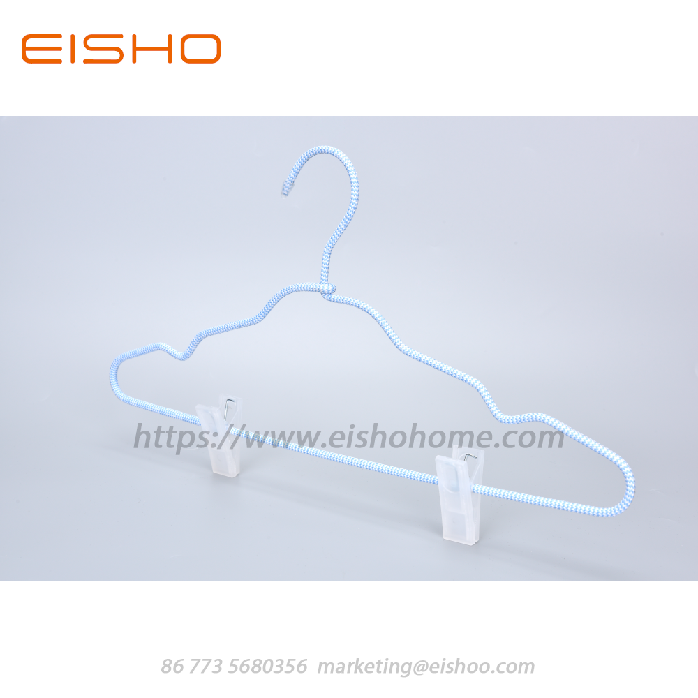 17 Eisho Cord Covered Coat Hangers With Clips