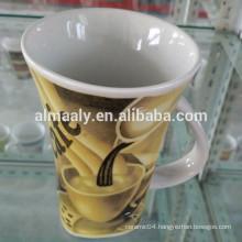 glaze V-shape ceramic coffee mug