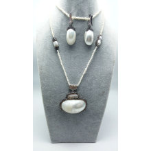 Pearl Necklace with The Nature Stone, One Set Beauty for The Life Handmade Jewelry with Love