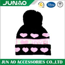 Acrylic Winter Jacquard Stickad Beanie Hat