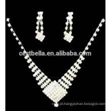 Cheap Rhinestone Bridal Earrings Wedding Bridal Jewelry Crystal Bridesmaid brincos e colar
