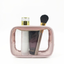 Custom Plastic Transparent Travel Women Makeup Bag PVC Clear Cosmetic Bag