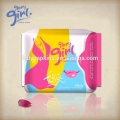 Our private label Glory Girl odor control negative ion  chip sanitary napkin