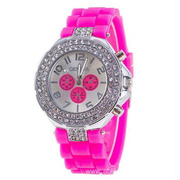 Hight Quality Silicone Wrist Lady Watch