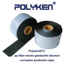PolykenGTC pp tecida fita de proteção de corrosão de butilo geotêxtil
