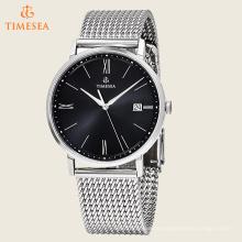 Art- und Weiseuhr mit Metallhaken-Stahlineinander greifen-Bügel-Armbanduhren72560