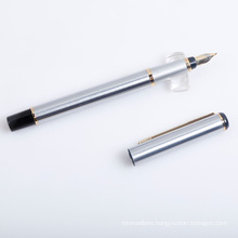 Silver Metal Fountain Pen with Tip Mouth