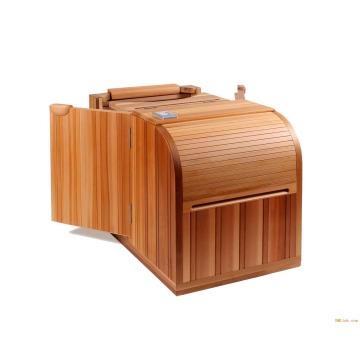 0ne pessoa infravermelho meio corpo cedro sauna