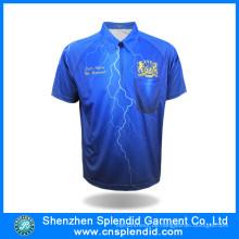 Nach Maß neues Art-Sublimations-Polo-T-Shirt für Sport