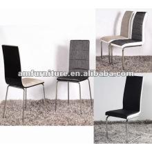AM-C165 Cadeira de jantar em tecido de assento e costas e pés cromados