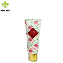 flower printing Soothing cleanser tube with plating cover