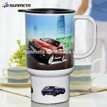 Tasses de sublimation de polymère, tasse de voiture en plastique sublimation