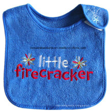 OEM Produce Customized Logo Cartoon Embroidered Cotton Terry Boy′s Drooler Baby Bibs