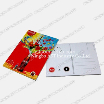 Carte postale enregistrable, cartes postales de musique, cartes promotionnelles