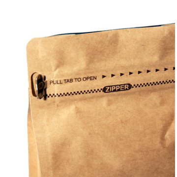 Biologisch abbaubare 500G Custom Zipper Coffee Paper Box Bag