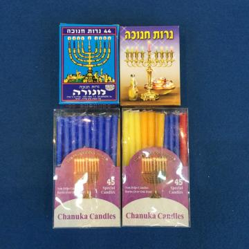 3.8g Spiral Jewish Chanukah Candle Isreal Market