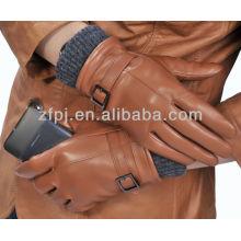 Wolle gestrickte Manschette neue Stil voller Handleder Handschuh für Touchscreen
