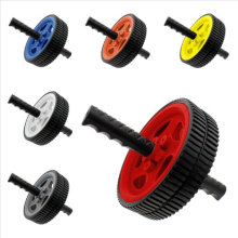 Rubber Materials Dual Ab Roller Wheel Fitness Exerciser Ab Wheel