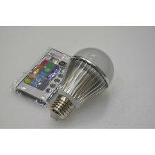 E27 3w rgb led bulb télécommande 100-240v
