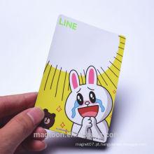 O projeto bonito feito sob encomenda do coelho caçoa ímãs do refrigerador de papel & refrigerador do ímã