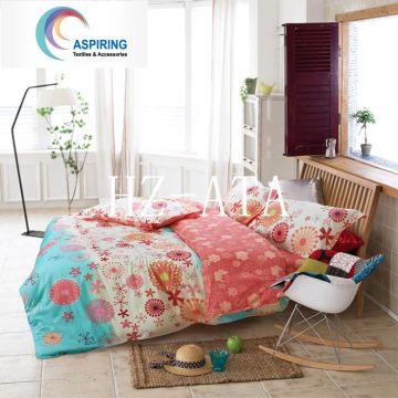 4PCS impresso edredon / fundamento da cama de edredão conjunto