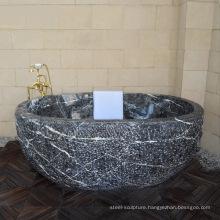 New Design high quality washroom free standing marble bathtub