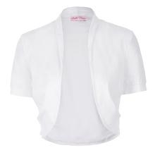 Belle Poque Femmes à manches courtes en coton plissé Blouson blanche en mousseline de soie en bonnet en bonnet BP000215-2