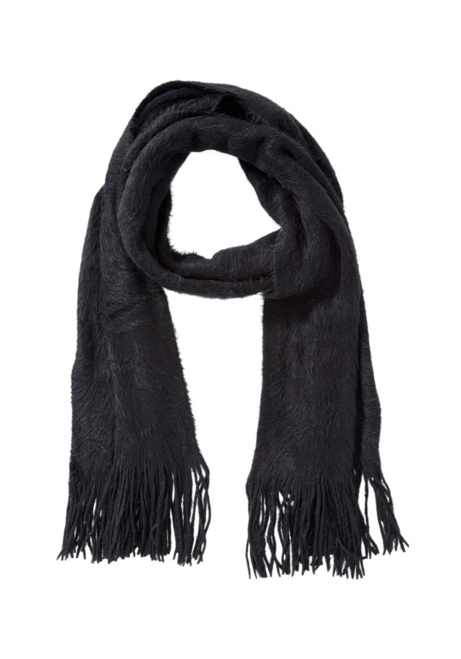 Brushed Supersoft Scarf Blk
