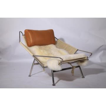 Chaise longue in pelle bandiera Halyard PP225