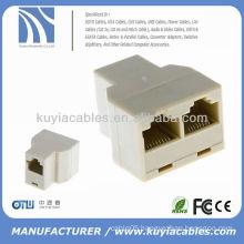 RJ45 CAT 5 6 LAN Ethernet Splitter Connector Double Adapter rj45 Splitter