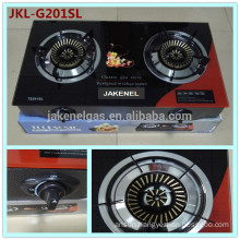 double burner gas stove tempered glass top