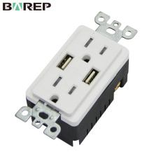CUL GFCI (Ground fault circuit interrupter )usb charger socket
