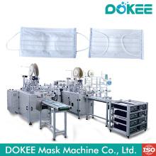 Máscara protetora cirúrgica descartável automática que faz a máquina