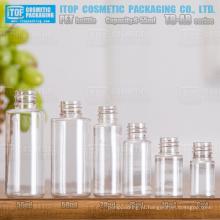 TB-AB série 6ml 10ml 15ml 20ml 50ml 55ml adorável ampla aplicação útil e popular redonda clara pequenas garrafas pet