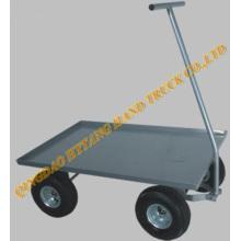 Chariot de jardin en acier avec roue pneumatique