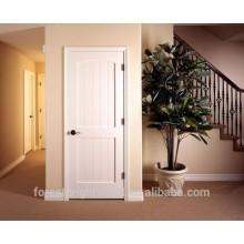 Escada de porta de madeira moldada de cor branca com hardware, porta da sala de armazenamento com hardware S10-1009