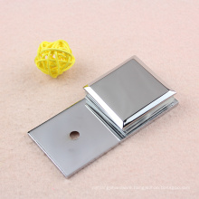 Brass glass clamp product with chrome surface treament