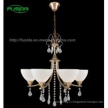 2013 Европейский дизайн хрустальная люстра Освещение со стеклом (D-8147/5)