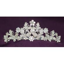 Цветочный дизайн Скидка Блестящий Кристалл Свадебная корона Пользовательские Tiara Свадебный
