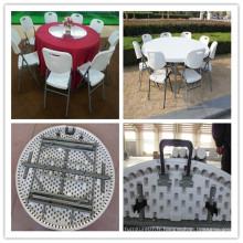 Dia. 152cm Multi-usage Banquet intérieur Restauration Restauration pliante en demi-table ronde (HQ-ZY152)